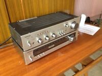 Early Toshiba integrated amplifier with phono input and separates tuner,