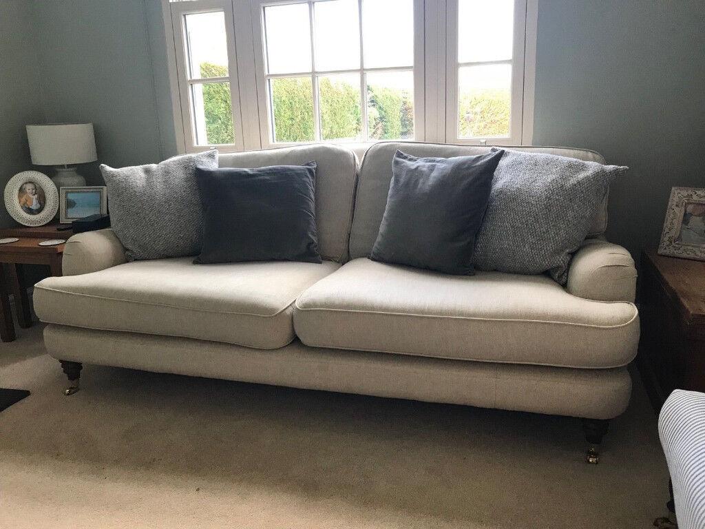Laura Ashley Lynden Large Sofa in Adele Natural Fabric | in Cambridge,  Cambridgeshire | Gumtree