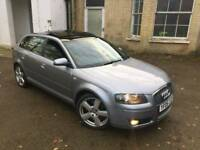 Audi A3 3.2 V6 S Line Quattro/Panoramic roof/FSH+Hpi Clear £3299!!!