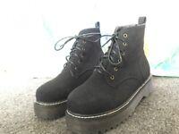 Black Suede Boots Women's size 6