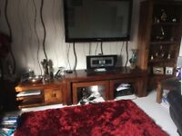 book shelf long john 2 tables under, tv /hi fi unit, coffee table, side table free if wanted
