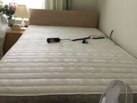 Adjustable double bed with mattress like new