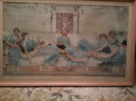 Vintage Framed Print of Maidens