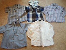 Little boys Next shirt bundle 1-2 years