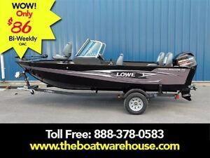 2017 lowe boats FM165 Pro WT Mercury 60HP Trailer Trolling Moto.