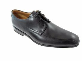 CLARKS GOYA BAND MEN'S BLACK LEATHER SHOES SIZE 11 - AS NEW