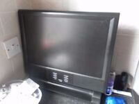 CCTV lcd tv 4 channel with built in dvr and cameras remote