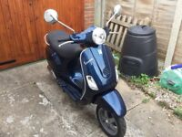 Vespa LX 150 blue scooter for sale as no longer used