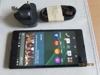 Sony Xperia Z-C6603-16GB black unlocked 4G smartphone excellent condition