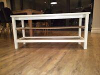 Ikea shoe rack in white (Tjusig)
