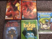 5 x childrens dvds