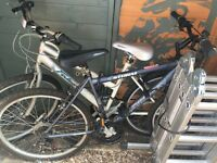 Two Falcon mountain bikes 18 speed gearing adult size £50 for two