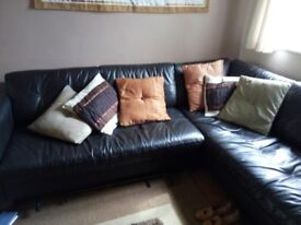 Dark Brown L-shaped Sofa originally from Harveys. Good condition. Any reasonable offer accepted.