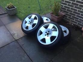 """Audi TT Comps 17"""" 5x100 Excellent tyres"""