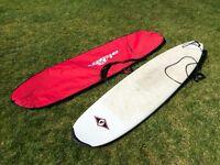 Minimal 7' Surfboard with Alder bag