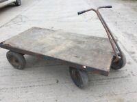 4 Wheel Heavy Duty Platform Trolley. 6x3 ft bed.