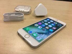 Silver Apple iPhone 6s 16GB Factory Unlocked Mobile Phone + Case + Warranty
