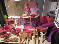 Barbie !!!!! Barbie !!!!! House ,car , bicycle !!!!!