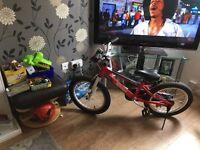 Boys red bike like new