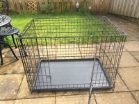 Collapsible metal animal cage. Ideal for cat or small dog