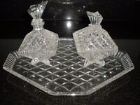 Glass Dressing Table Set