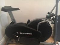 Exercise bike/Cross trainer combination. Hardly used.