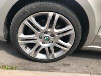 """Skoda thermisto 18"""" 5x112 alloys with continental tyres"""