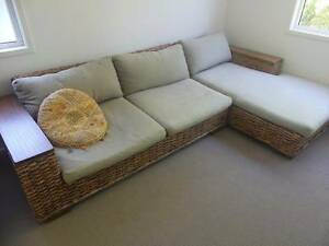 Outdoor Wicker 3 piece Lounge with R/H Chaise. Seven Hills Brisbane South East Preview