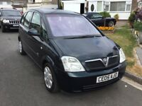 Vauxhall meriva 1.4 envoy 2005 facelift model 5 door mpv people carrier 12 months mot history
