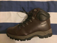Cotton Traders Brown Leather Waterproof Boots, Men's Size 8