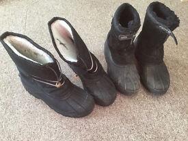 Alpine ice age snow boots winter carp fishing waterproof size 10 11. 1/2 wellington welly boot