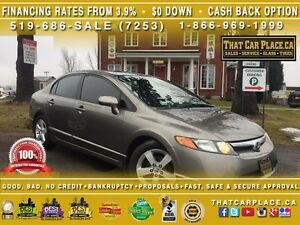 2008 Honda Civic EX-L-$70/Wk-Htd Lthr Sts-SunRoof-Low KM's/Price