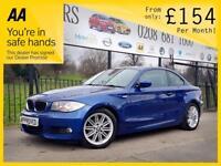 BMW 1 SERIES 2.0 120D M SPORT 2d 175 BHP Car Finance Experts, A (blue) 2013