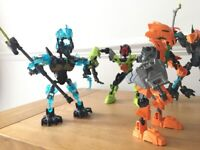 6 Lego Bionicle characters
