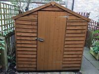 Apex Shed. 6 x 4ft Overlap style, windowed. Felt roof. Good condition.