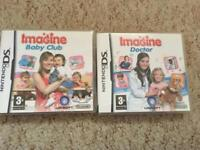 2 Nintendo DS games Imagine Doctor and Imagine Baby Club