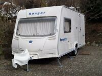 Immaculate 2007 Bailey Ranger 460/2 Touring Caravan . Cooker is in brand new condition .