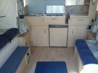 2003/4 Pennine Fiesta 2+2 folding camper with Awning