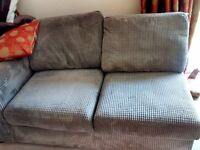Sofa bed, armchair and storage footstool
