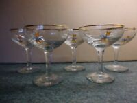 Classic Vintage 1970s Babycham Glasses with the Yellow Fawn