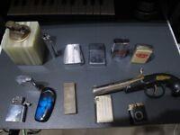 Vintage lighters 1930s Parker Rollalite Varatronic Prezo,Consul 3,Kingstar Juno