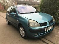 Renault Clio 1.1 long M.O.T and low miles