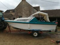 Boat, Speed Cruiser, motor and trailer