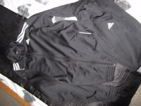 Adidas mens black tracksuit. size L. great cond.