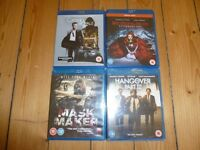 4 Blu-Ray DVDs for Sale