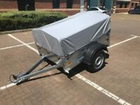 TEMARED 1510 NEW GARDEN TRAILER 150 with 40cm gray or blue cover