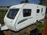 2009 Sterling Cruach Cuillin - 4 berth touring caravan, end washroom