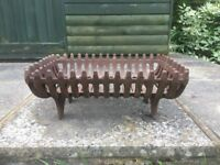 Vintage Cast Iron Fireplace Fire Grate