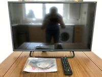 "32"" Full HD 1080p Slim LED TV with Freeview HD and built in JBL speakers, 2 months old"