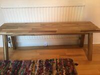 IKEA Skogsta Solid Natural Wood Bench